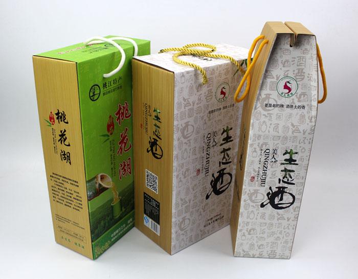 """个性礼盒包装让""""竹筒酒""""身价倍增,长沙包装印刷厂再为桃江特产定制包装"""