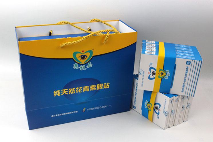 哪里可以做礼盒包装?护眼神器亮视嘉护眼贴礼盒包装+手提袋套装出自长沙印刷厂